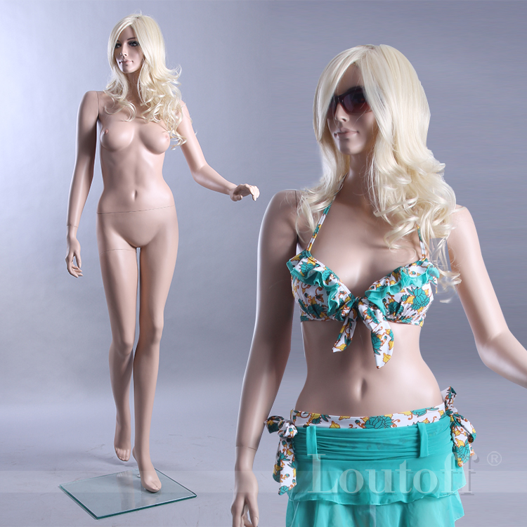 standing skin color full body sexy realistic real female mannequin