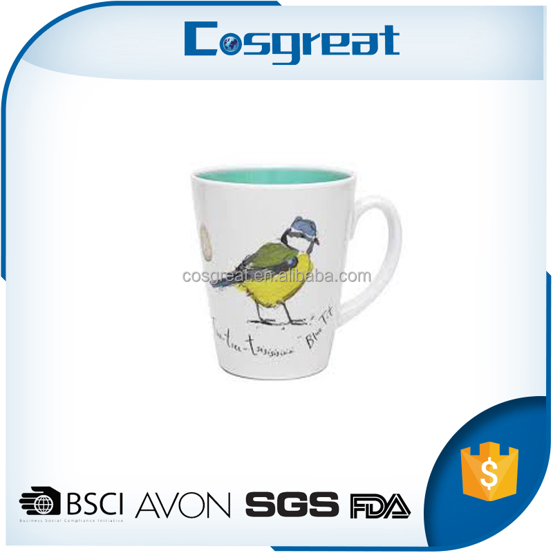 Hot sale custom logo melamine tea mug