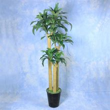 Hot selling high imitation lifelike three branch green decoration plastic plants