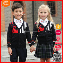 Knitted Primary kids school uniforms pullover sweaters