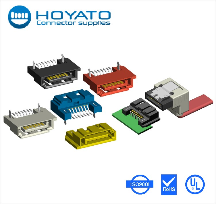 7P 15P 22P SATA cable assembly connectors and cables