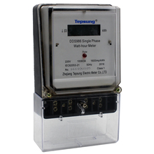220V DDS986 single phase two wire digital smart electronic energy meter watt hour meter with good price