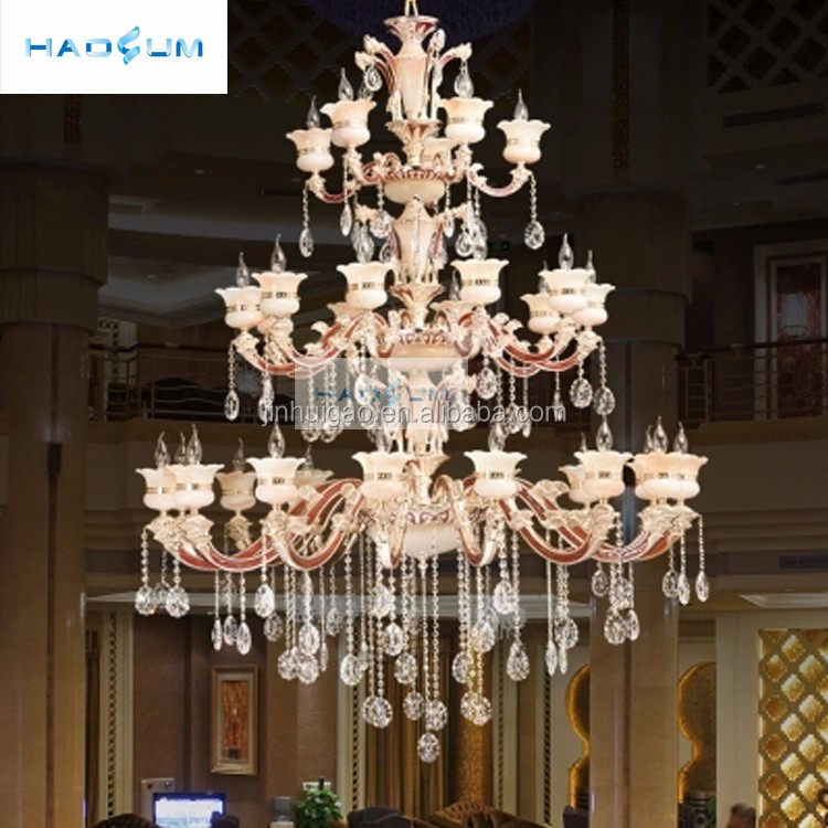 Chinese factory direct antique brass copper italian style large crystal chandelier for house