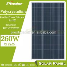 Polycrystalline silicon 260w 260 watt 260wp pv solar panel 60 cells for sale