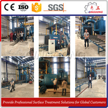 automatic plate and section shot blasting machine