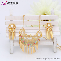 New Designl Xuping Fashion Russian Jewelry 18k Gold Color Plated Jewelry Sets