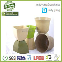 NATURAL Biological Bamboo Fiber Garden Flower Pot,Indoor&Outdoor Flower Pot
