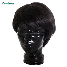 Cheap high quality 8inch black male short hair wig for men
