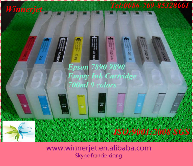 9890 ink cartridge for Epson 7890/9890 transparent ink cartridge