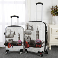 2016 female and ladies hot selling carry-on pc abs trolley luggage with TSA lock