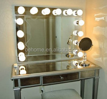 vanity table with lighted mirror makeup mirror
