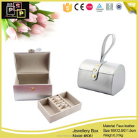 luxury fashion silver new leather travel jewelry case