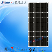 High efficiency 150W photovoltaic solar panel price in india for golf carts with TUV.UL and Product insurance