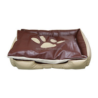 Processing customized new coming footprint pet bed sofa and nest dog bed cushion