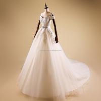 high quality white modish wedding dress Tee fashion dress