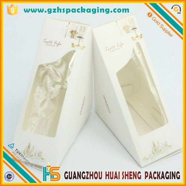 Custom printed paper Sandwich packaging box