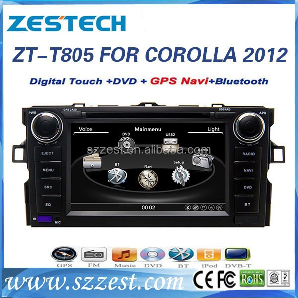 ZESTECH 7 inch for Toyota Corolla 2012 Car DVD and Multimedia Kit