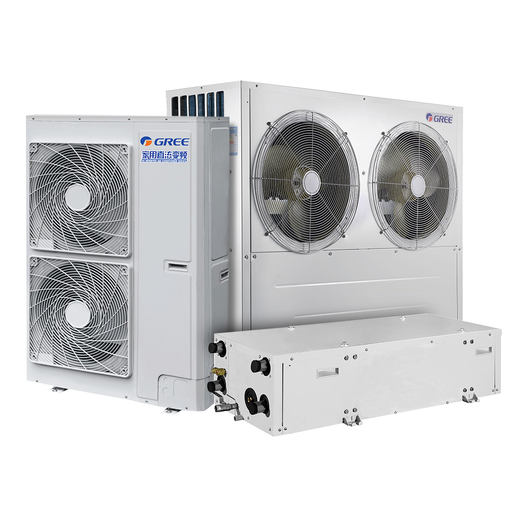 Gree houshold central air conditioning cooling/heating one unit air source heat pump air conditioner