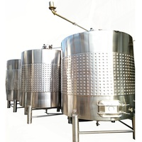 500l 1000l 5000l 10000l variable volume Stainless steel used cooling jacket grape wine making kit equipment fermentation tank