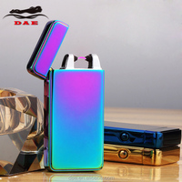 High Quality Rechargeable Metal Electric Arc Lighter With Exquisite Plastic Gift Box