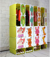 General Use and Special Use Green Color Plastic Shoes and Clothes Storage Cabinets Wardrobe (FH-AL00956-16)