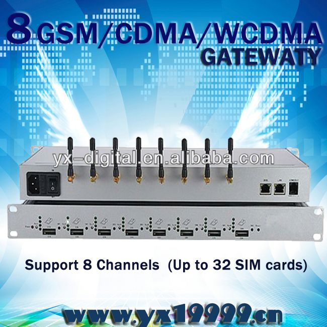 CDMA VoIP GSM Gateway from GSM/CDMA to SIP intercom pbx system