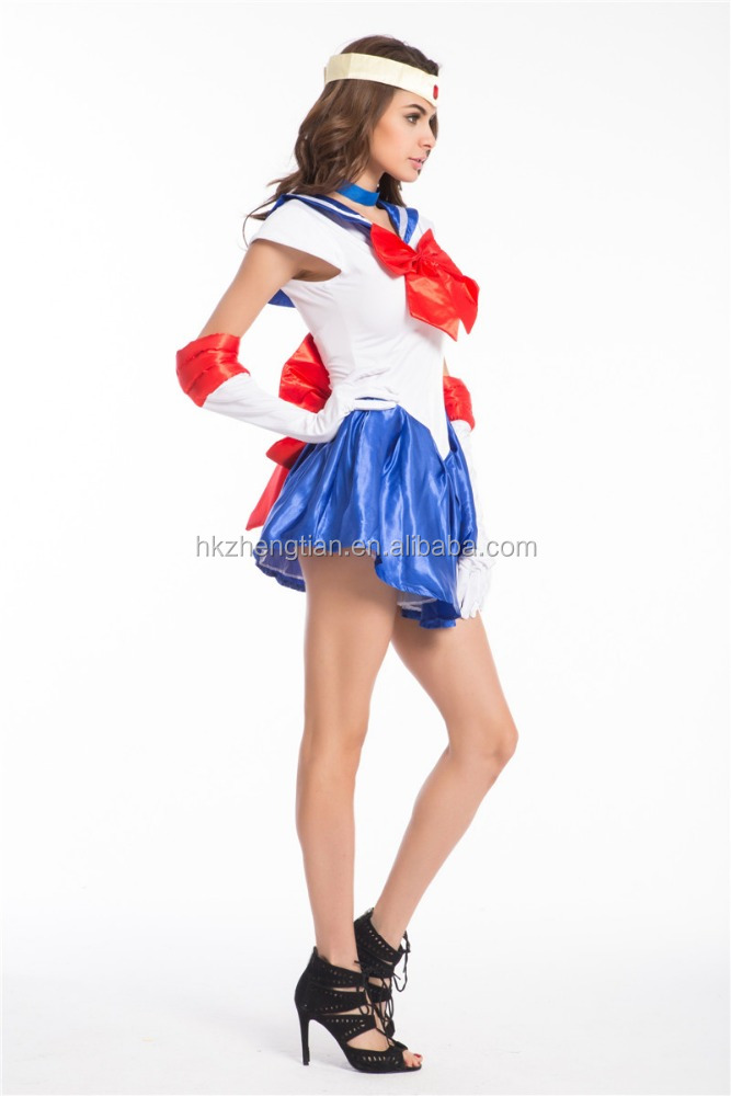Walson Sexy Navy Sailor Nautical Girl Fancy Dress Ladies Military Womens Adult Sailor moon fancy dress Costume