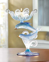 Decorative glass tealight candle holders candelabra of animal shape for wedding