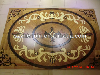 Medallion flooring design marquetry parquet flooring patterned mosaic parquet
