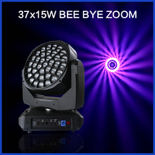 Disco LED Moving Head Light Bee Eye 37pcs 15w RGBW 4in1 Beam Spot Wash Stage Light