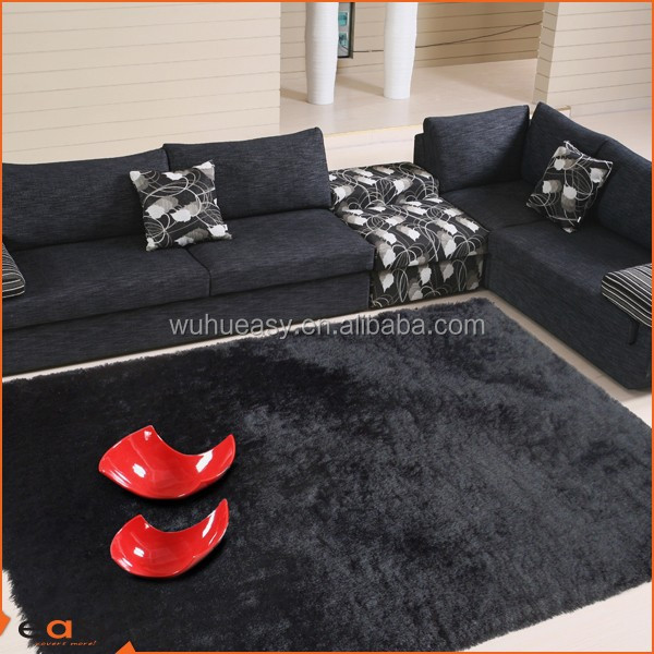 Cute high density shag area non slip rugs