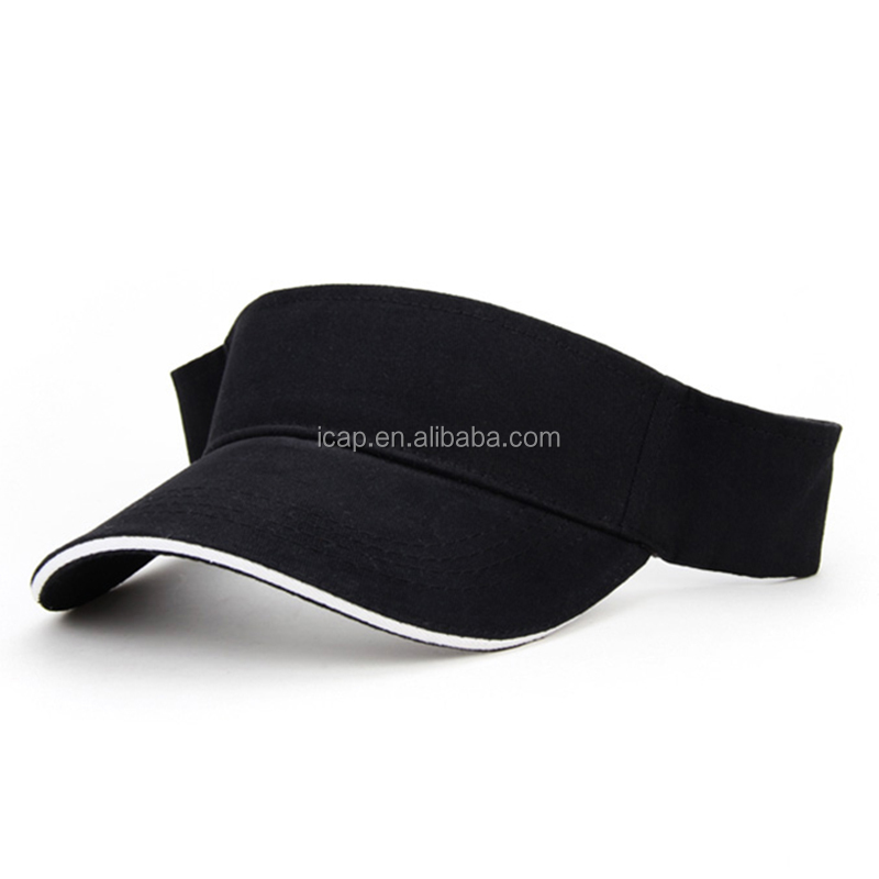 Factory Custom Logo 100%Cotton Sport Sun Visor Caps