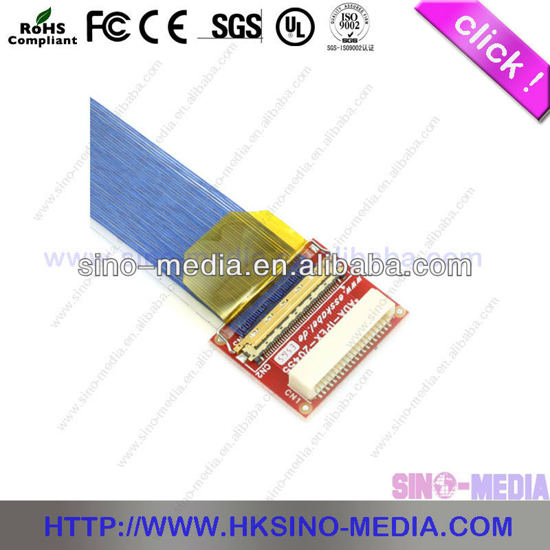 IPEX20454-050T Micro Coaxial Industrial PC LVDS Cable For LCD panel