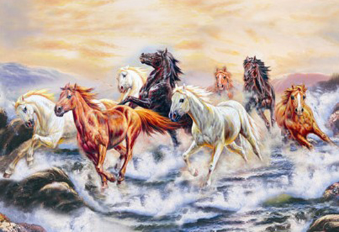 3D Famous 8 running horse paintings