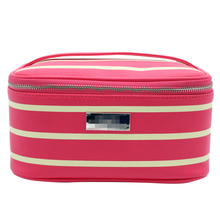 High Quality Portable PU Strip Makeup Vanity Cosmetic Cases Beauty