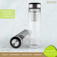 Low MOQ! BPA Free Sports Hot Glass Fruit Infuser Water Bottle