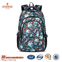 Black cute polyester laptop supplier trendy school bags for teenagers/.