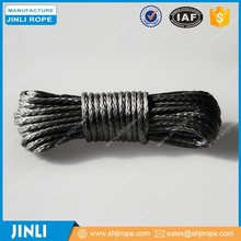 (JINLI ROPE) Grey 3/16''X50' synthetic winch rope for atv utv 5000lbs