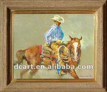 Handsome cowboy oil painting high quality art painting