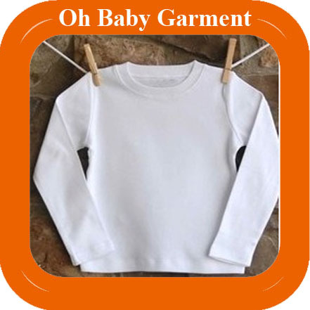 High Quality Kid Long Sleeve T-Shirt 100% Cotton Plain White T-Shirt Wholesale Kids Clothing