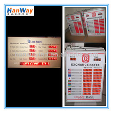 Led Gas Price Money Board /Foreign Currency Exchange Rate Indoor LED display for