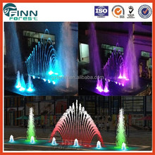 museum front door decoration with controller musical garden water fountain