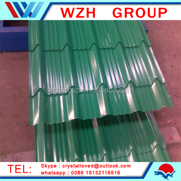 Zinc Corrugated Roofing Sheet Prices /color Coated Galvanized Corrugated Steel Sheet /wave Tile For Roofing from china supplier