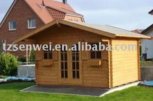 Garden frame house,small timber log home, guard wooden house