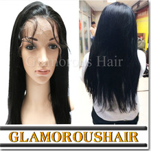 Lace front front wig with bun/Indian remy human hair