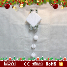 Unique design white polyfoam stuff fabric hanging christmas gift with 3 small balls