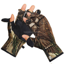 Other Hunting Products leather winter hunting shooting Waterproof camouflage gloves
