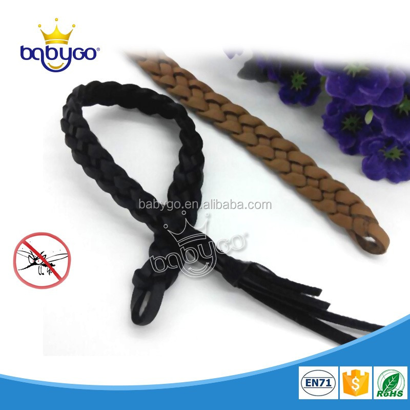 Effective stocked PU leather mosquito repellent adjustable hand band