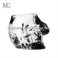 Skull Shaped Decorative Votive Tealight Glass Candle Holder