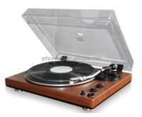 High end 2 speed new design wood turntable